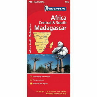 Africa Central and South Madagascar Michelin National Map 746