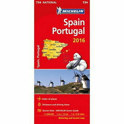Spain Portugal Michelin National Map 734 Motoring and Tourist