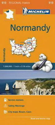 Michelin Map 513 Normandy Brittany France Regional