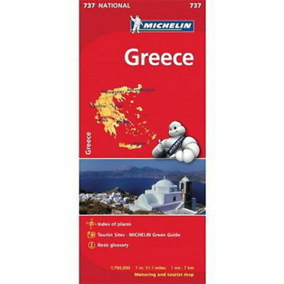 Greece Michelin National Map 737 Motoring and Tourist