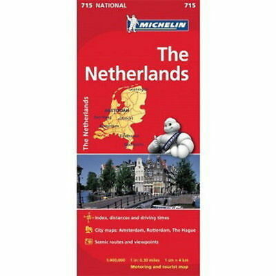 Netherlands Michelin National Map 715 Motoring and Tourist 2016