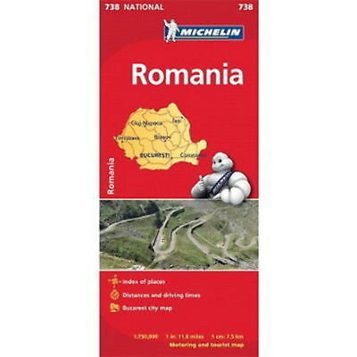 Romania Michelin National Map 738 Motoring and Tourist