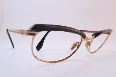Vintage 50s eyeglasses frames gold filled METZLER 1-10 12K size 48-20 Germany