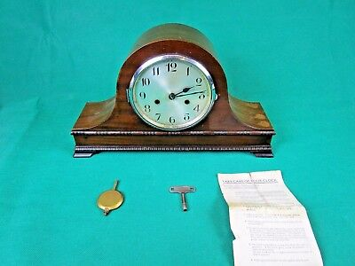 Napoleon Hat Mantle Striking Clock - English Made