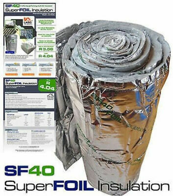 15sqm Roll of SuperFOIL SF40 Multifoil Reflective Insulation for Roofs and Walls