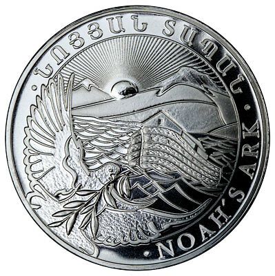 2018 Armenia 1 oz Silver Noah's Ark 500 Drams Coin GEM BU SKU51636