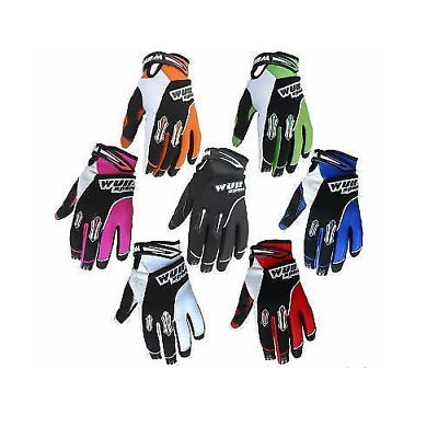 Wulfsport MX Kids Stratos Trials Gloves Childrens Off Road Quad BMX Cycle Gloves