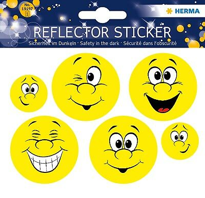 "Reflektorsticker ""Happy Face"", HERMA DECOR 19197"