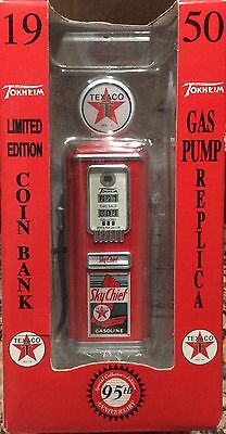 Texaco Sky Chief 1950 Gas Pump Die Cast Coin Bank Limited Edition Gearbox