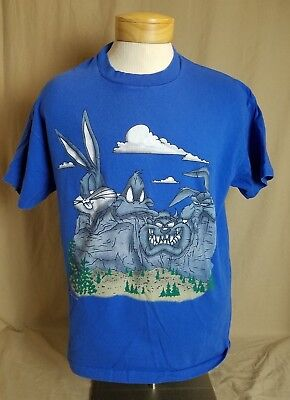 Vintage 1993 Loony Toons Mount Rushmore XL T-Shirt Buggs Bunny Daffy Duck Taz WE