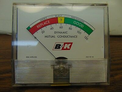 B&K ME-12-M panel meter for Vacuum Tube Tester