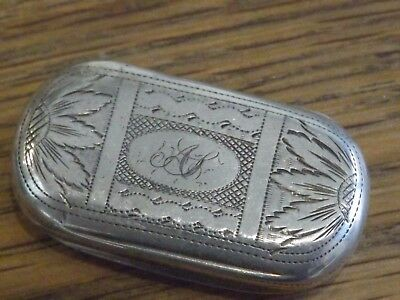 SUPERB Solid silver georgian vinaigrette wriggle work decoration dates c 1808
