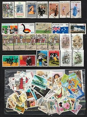 1976 To 1981 100 Australian Stamps  All Different  Used