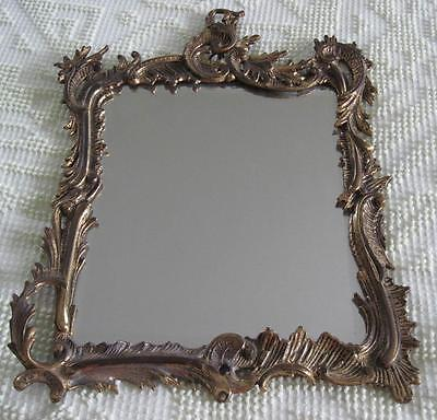 """1891-1911 National Brass and Iron Works 10"""" X 12""""  Beveled Mirror"""