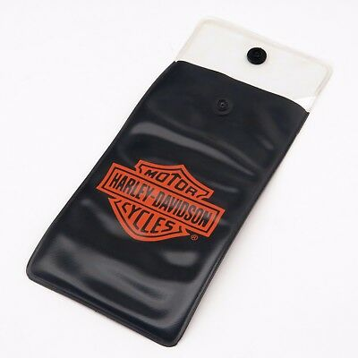 Genuine Harley Davidson Motorcycles Logo Vinyl Tool Gift Snap Button Pouch / Bag