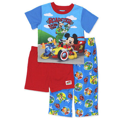 Mickey Mouse and the Roadster Racers Toddler Boys 3 piece Pajamas Set 21MK393EZS