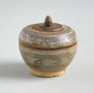 Thai 14th - 15th Century Miniature Sawankhalok Covered Box
