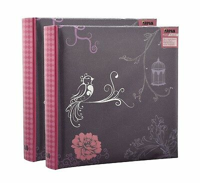 Arpan Brand Large Slip In Photo Album Holds 200 Photos 6x4'' Purple Pack of 2