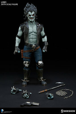 """Sideshow Collectibles Lobo 1/6 Scale Figure 12"""" DC Comics Brand New Sealed"""