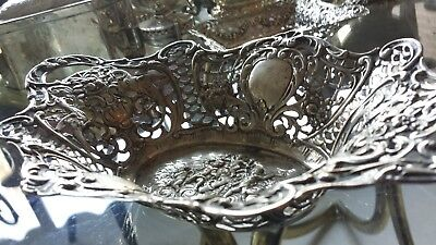 190g XIXC HANDLE CENTER CARVING & EMBOSSED QUERUBINES PARADISE STYLE 830 SILVER