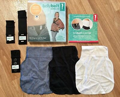 Fertile Mind Belly Belt Combo Kit inc 3 panels, 2 slides + 1 button up pregnancy