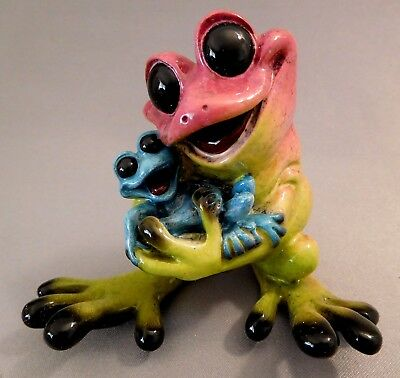 "Kitty's Critters ""rock-A-By-Baby"" Frog Figurine 2004 ~ Excellent Cond."