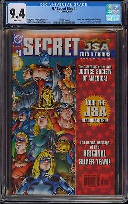 JSA Secret Files #1 CGC 9.4 NM White Pages 1st Appearance New Hawkgirl Kendra