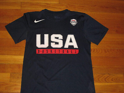 Nike Dri-Fit Athletic Cut Usa Basketball Short Sleeve Jersey Mens Small Exc.