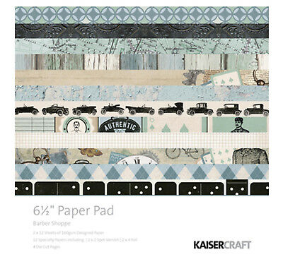 "Kaisercraft - 6.5"" Paper Pad - Barber Shoppe - 40 sheets/pages - PP1002"