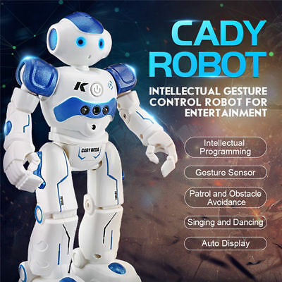 AU ! Intelligent JJRC Gesture Control Programmable Dancing USB RC Robot Kids Toy