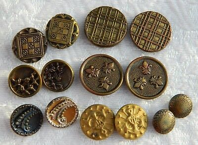 LOT of numerous PAIRS of matching Antique Vintage & Victorian metal BUTTONS