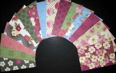 """WINTER GARDEN""   Scrapbooking/Cardmaking Papers X 16 - 15cm x 10cm (6"" x 4"")"