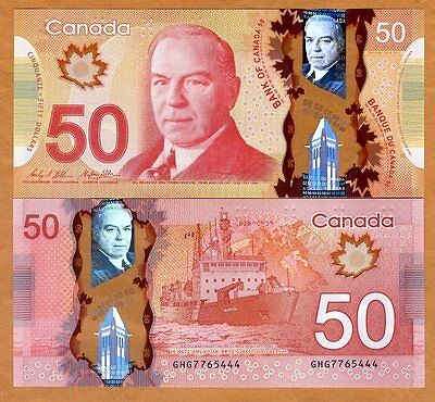Bank of Canada, $50, 2012 ( 2015), Polymer, P-109-New, UNC