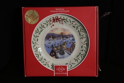 Lenox 2012 For the Holidays Snow Covered Winter Village Annual Chistmas Plate