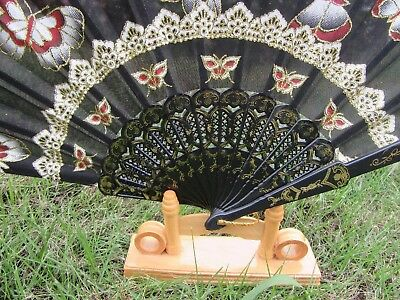 12X Cloth Printed Butterfly Folding Fans Hand Fans Mixed