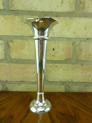 a nice vintage Mappin and Webb sliver plated Trumpet posy vase VGC