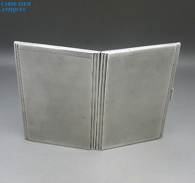 VINTAGE GOOD QUALITY HEAVY SOLID STERLING SILVER CIGARETTE CASE, 192g, BIRM 1935