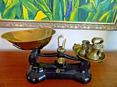 Librasco Kitchen Scales, Brass Pans and Weights