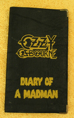 OZZY OSBOURNE  Diary Of A Madman vintage Promo 1982 Date Book / Daily Mind-R