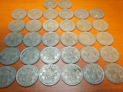 Mixed Lot of Circulated Coins from England     Half Crown
