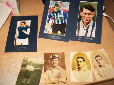 7x wednesday fc/sheffield wednesday players in sepia/colour AGE/HISTORY UNKNOWN
