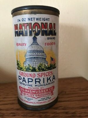 National Brand Ground Spices Tin - Geo. Rasmussen Co.Genuine Hungarian Paprika