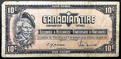 Vintage 1974 Canadian Tire 10 Cents Note ***Great Condition*** Free Combined S/H