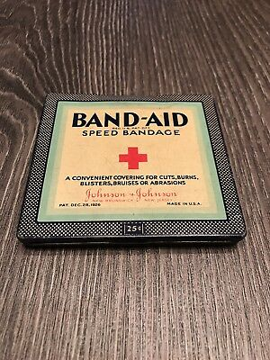 Vintage 25 Cent Band-Aid Speed Bandage Metal Tin Advertising Tin