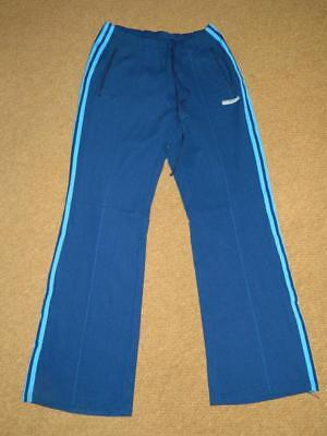 Vintage 1970s ADIDAS TRACK SUIT BOTTOMS SEVENTIES FLARED SPORTS TROUSERS 32x32