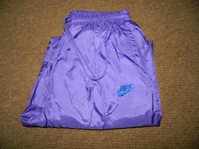 VTG 1980s/90s NIKE SHELL SUIT BOTTOMS TROUSERS shiny glanz nylon 36x32