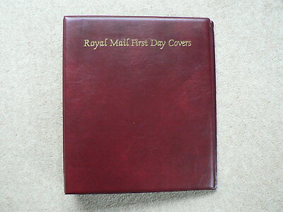 Royal Mail First Day Covers Album, Burgundy Red, 4 Ring Binder, Empty
