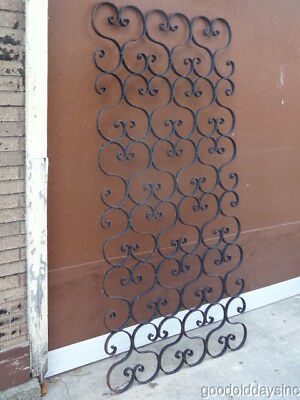 "Rustic Scrolling Wrought Iron, Salvaged Antique Gate/Trellis Divider 79"" x 38"""