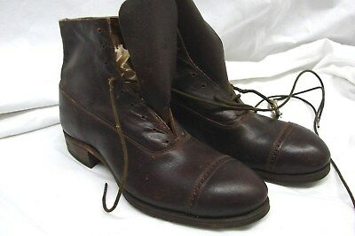 ANTIQUE EDWARDIAN EARLY 1900s VINTAGE BOY'S HIGH TOP WORK PLAY BOOTS