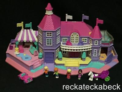 1994 Polly pocket LIGHT UP MAGICAL MANSION  100% complete MINT ALL FLAGS RARE